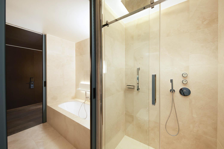 Progetto contract box doccia per hotel Hilton